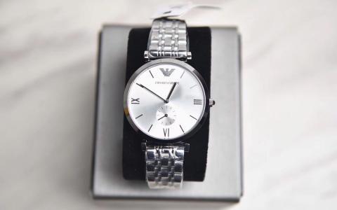 Armani 阿玛尼官方正品大气手表男 潮流简约石英腕表