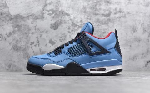 #Air Jordan 4 Retro Travis Scott Cactus Jack 乔四 魅力蓝 货号308497-406