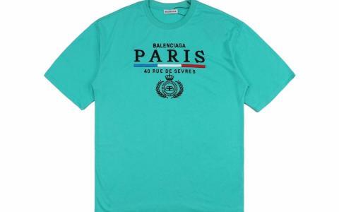 Balenciaga/巴黎世家 19ss 巴黎塞弗尔街40号限量纪念版短袖