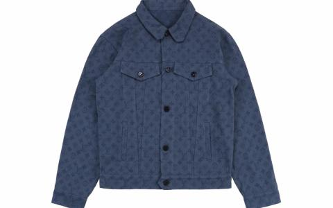 Louis Vuitton/路易斯威登 19Fw 暗纹提花字母Logo牛仔长袖外套